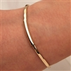 14k Yellow Gold Filled Thin Hammered Cuff Bracelet (351TH.yy)