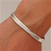 Sterling Silver Thick Cuff Bracelet (353.s)
