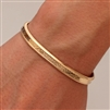 14k Yellow Gold Filled Thick Cuff Bracelet (353.ygf)