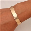 14K Gold Filled Wide Hammered Cuff Bracelet (354.ygf)