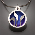 Sterling Silver and Niobium Pendant (410S.sn)