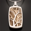 Sterling Silver and 14k Bi-Metal Pendant (415L.sbb)