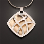 Sterling Silver and 14k Bi-Metal Pendant (416L.sb)