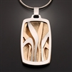 Sterling Silver and 14k Bi-Metal Pendant (419L.sbb)