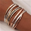 Complete Set of Thin and Thick Bracelets