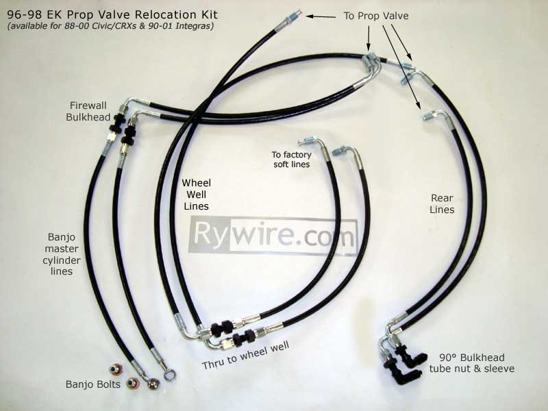 civic  integra  crx proportion valve relocation kit