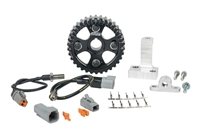 Cam and Crank trigger kit, with Cam hall Sensor and Crank hall sensor, including cam bracket and crank bracket.