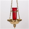 CCG-165, HANGING SANCTUARY LAMP WITH GLOBE