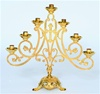GOLD PLATED 7 CANDLE AVE' MARIA CANDELABRA