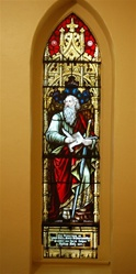 Antique early American Stained Glass Window, St. Paul