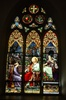 Antique early American Stained Glass Window, Jesus walks on water