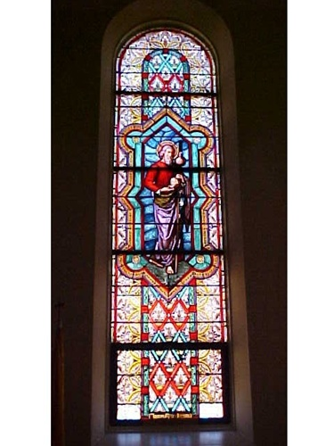 Antique Set Of 10 Stained Glass Windows For Sale