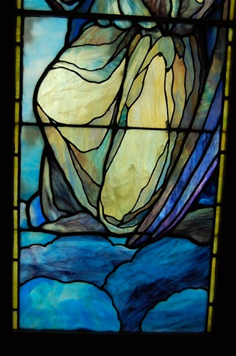 Adoring Angel Antique Stained Glass Window By J Amp R Lamb