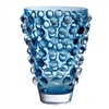 Bubble Wide Vase in Cobalt