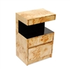 Plush Home Lacquer Open Table in Mappa Burl, Small