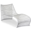 Outdoor Weave Modern Chaise Lounge, White