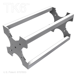 12 inch Box Truss Section for assembling TK6 truss booths, display shows , and other truss assemblies.