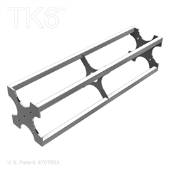 24 inch long 6 inch Box trussTruss Section for assembling TK6 truss booths, display shows , and other truss assemblies.