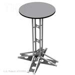 TKP™ TABLE, 42 IN HIGH TRUSS WITH 24 IN DIAMETER TOP