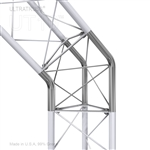 45 DEGREE TURN UPPER/LOWER VERTEX 10 INCH TRIANGLE TRUSS