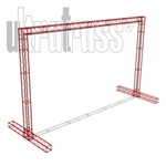 Bozeman - 25 ft by 15 ft Ultratruss Box Truss Arch with Base