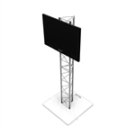 6FT UT10 TRIANGLE TRUSS MONITOR STAND WITH TV MOUNT