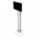 9FT UT10 TRIANGLE TRUSS MONITOR STAND WITH TV MOUNT
