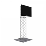 6FT UT10 BOX TRUSS MONITOR STAND WITH TV MOUNT