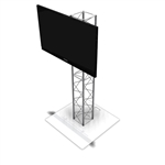 6FT UT10 BOX TRUSS MONITOR STAND WITH LARGE TV MOUNT