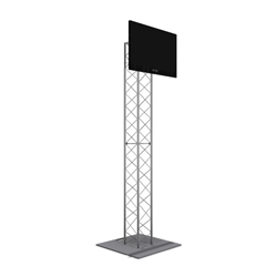 8FT UT10 BOX TRUSS MONITOR STAND WITH TV MOUNT