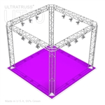 Angelica - 10 Ft X 10 Ft Triangle Truss Booth with Four Light Tracks