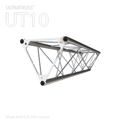 STRAIGHT 3 FOOT 4 INCH TRIANGLE 10 IN ALUMINUM TRUSS