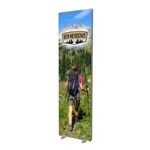 "24"" x 84"" Free Standing Fabric Frame with Feet & Graphic"