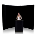 10ft Curved Pop Up Display Fabric Kit