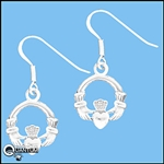 Sterling Silver Dainty Claddagh Earrings (#BQ124)