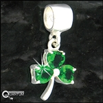 Sterling Silver Celtic Shamrock CZ Add-a-Bead (#BQ448)