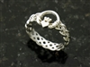 Sterling Silver Celtic Claddagh Braided Band Ring (#BQ507)