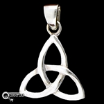 Sterling Silver Classic Trinity Knot Pendant (#BQ551)