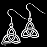 Sterling Silver Double Trinity Knot Earrings (#BQ553)