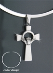 316 L Stainless Steel Claddagh Cross (Collar29)
