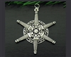 Pewter Lighthouse SnowWonders® Snowflake Ornament/Pendant (#JPEW5211)
