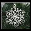 Pewter Scottish Thistle SnowWonders® Snowflake Ornament/Pendant (#JPEW5233)