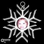 Pewter Family Photo SnowWonders® Snowflake Ornament/Pendant (#JPEW5335)