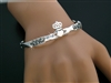 Pewter Claddagh Bangle Bracelet (#JPEW5571)