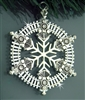 Pewter Train SnowWonders® Snowflake Pewter Ornament/Pendant (#JPEW5818)