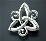Pewter Three-Dimensional Trinity Triskele Pin (#JPEW5993)