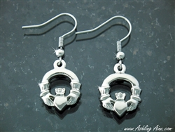 Double sided Claddagh Earrings