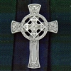 Pewter High Cross Pin/Pendant (Jpew6081)