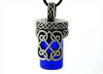 Pewter Celtic Heart Bottle (#PEW4)