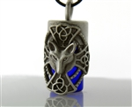 "Pewter Maltese Cross and Wolf Aromatherapy Keepsake Vial 36"" Cord(PEW97)"